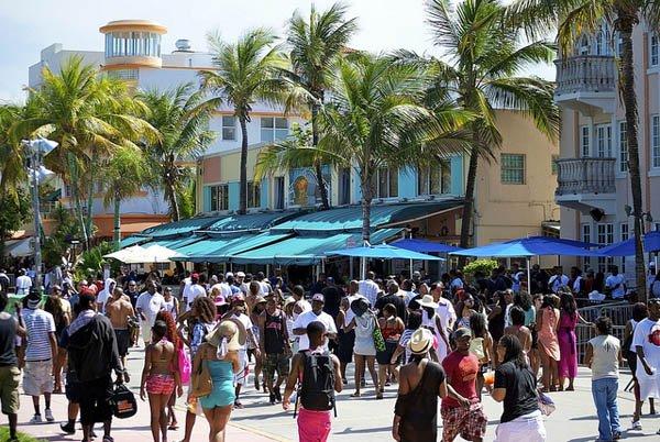Feriados en Miami Beach. Foto: Bob B. Brown