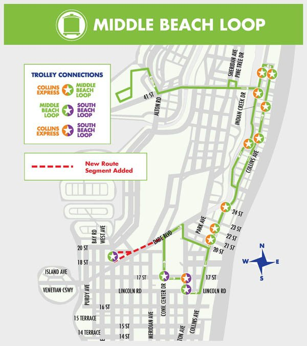 Miami Beach Trolley Recorridos