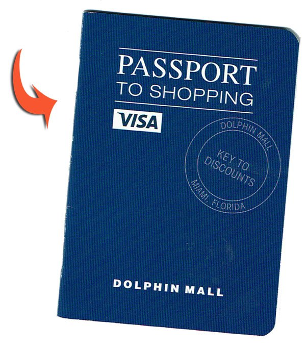 Pasaporte de Compras Dolphin Mall cuponera